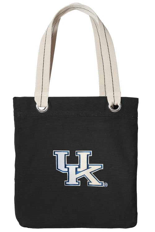 Kentucky Wildcats Black Cotton Tote Bag