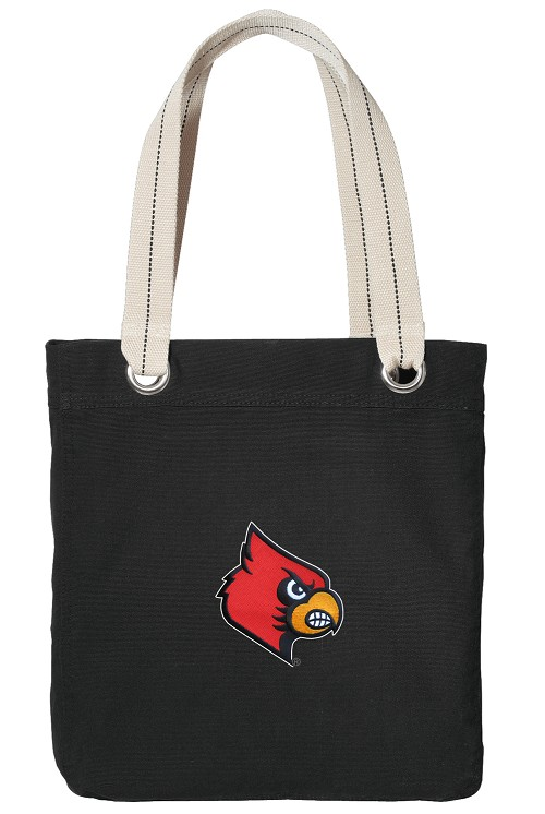 UofL Black Cotton Tote Bag