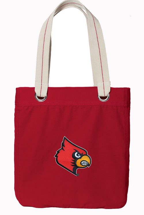 UofL Rich RED Cotton Tote Bag