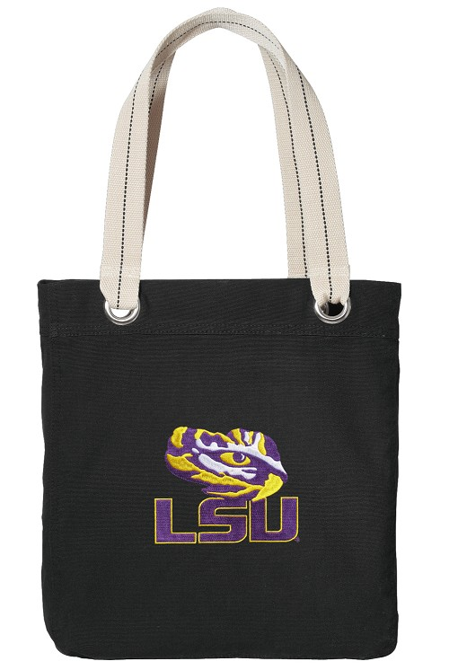 LSU Tiger Eye Canvas Tote Bag