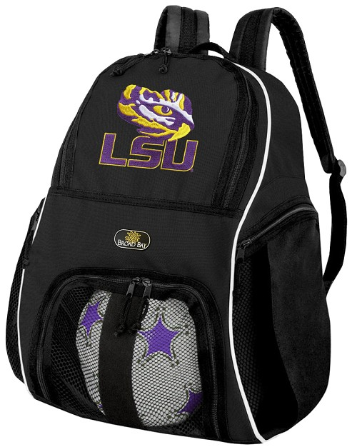 LSU Tigers Soccer Backpack or LSU Volleyball Bag For Boys or Girls