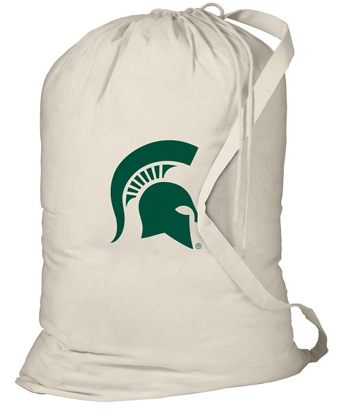 Michigan State Laundry Bag Natural