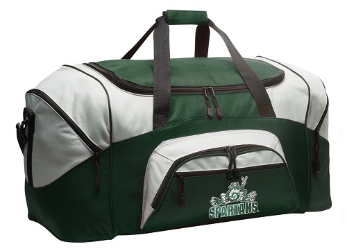 Michigan State Peace Frog Duffle Bag Green