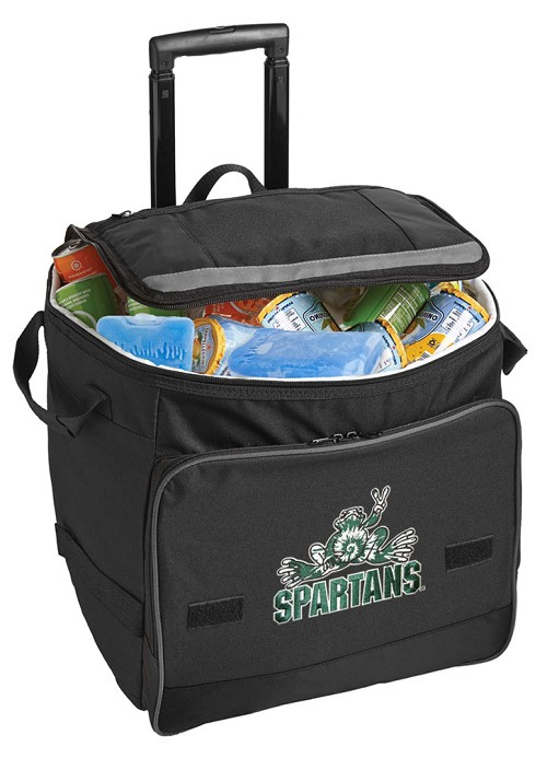 Michigan State Peace Frog Rolling Cooler