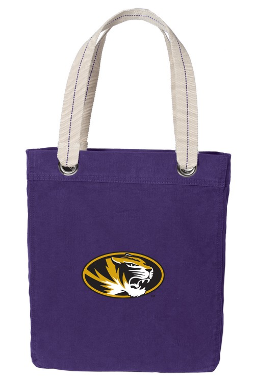 Mizzou Tote Bag RICH COTTON CANVAS Purple