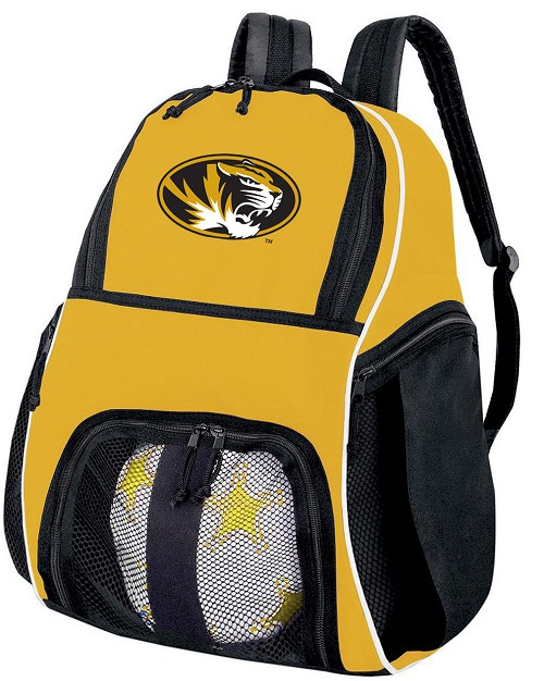 University of Missouri Soccer Ball Backpack or Mizzou Volleyball For Girls or Boys Practice