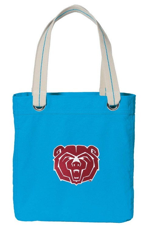 Missouri State University NEON BLUE Cotton Tote Bag