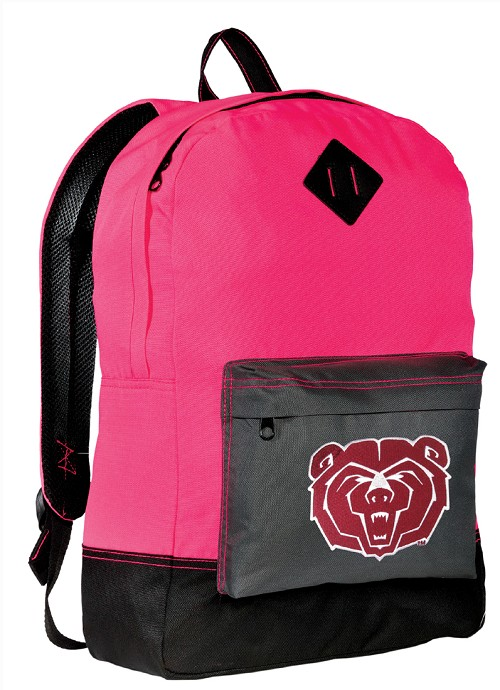 Missouri State University Neon PINK Backpack