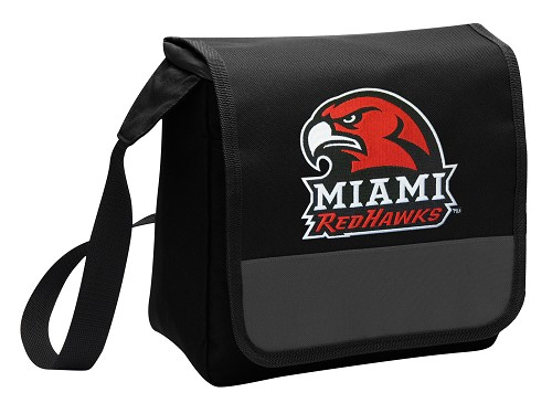 Miami University Redhawks Lunch Bag Cooler Black