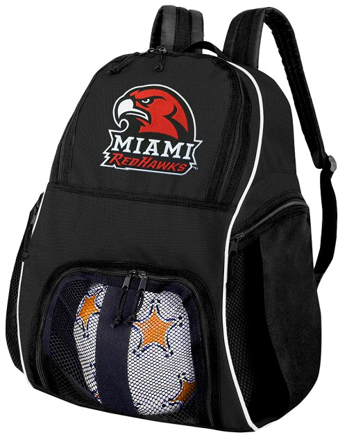 Miami University Soccer Backpack or Miami RedHawks Volleyball Bag For Boys or Girls