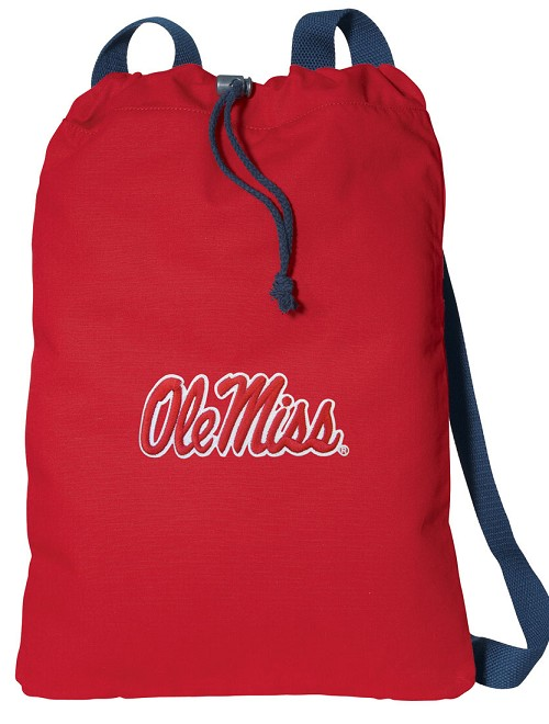 Ole Miss Cotton Drawstring Bags