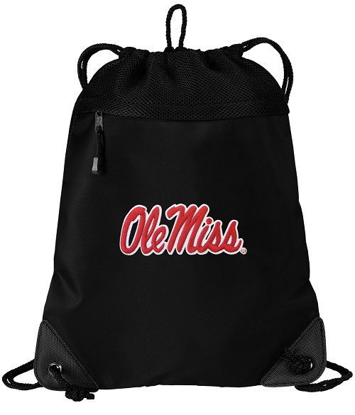 Ole Miss University of Mississippi Drawstring Bag Backpack
