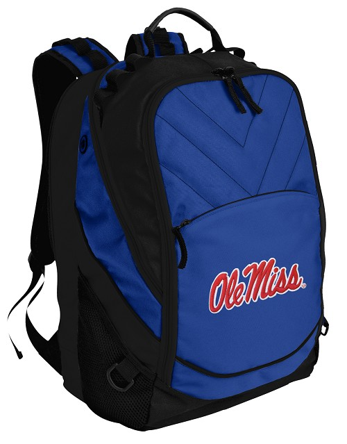 Ole Miss Deluxe Computer Backpack Blue
