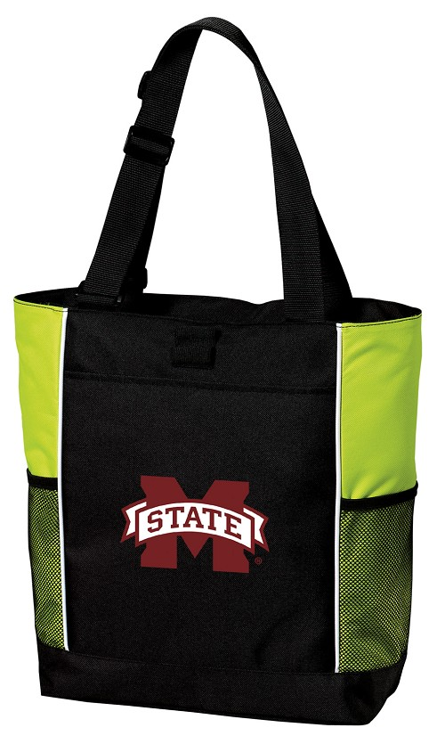 Mississippi State University Neon Green Tote Bag