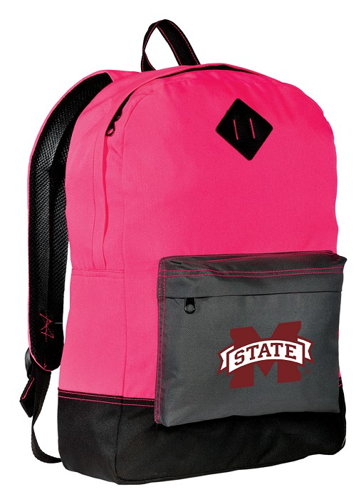 Mississippi State University Neon PINK Backpack