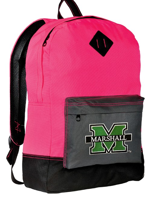 Marshall University Neon PINK Backpack