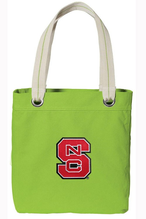 NC State NEON Green Cotton Tote Bag