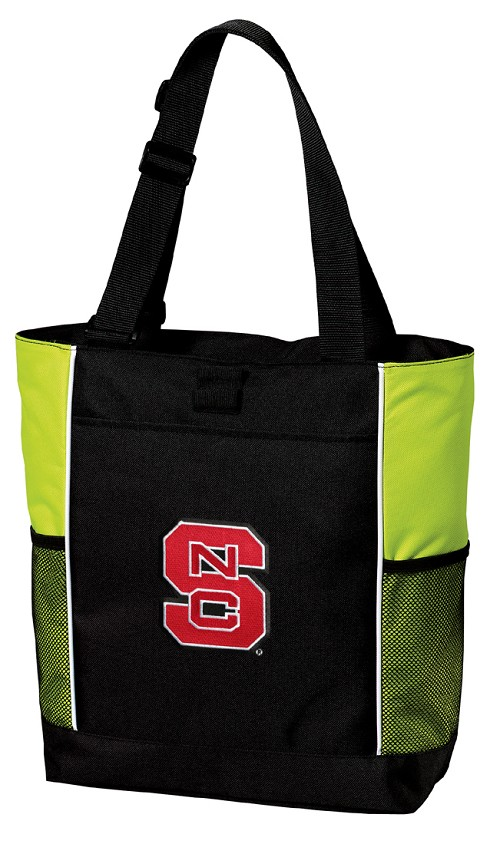NC State Neon Green Tote Bag