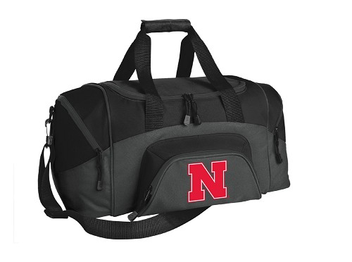 University of Nebraska Small Duffle Bag Black