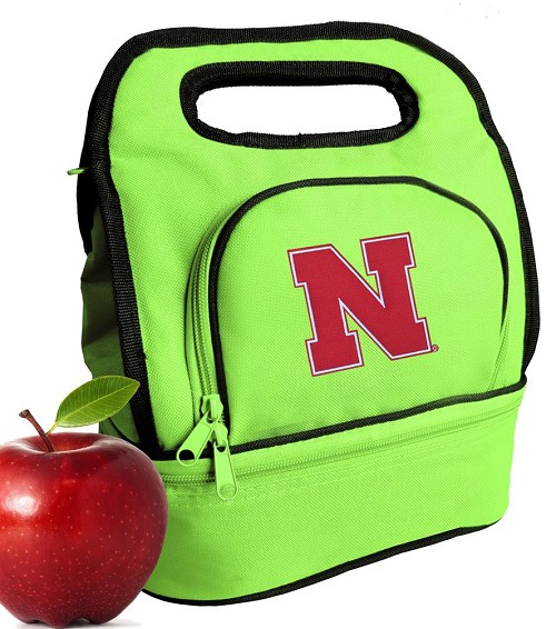 University of Nebraska Lunch Bag Green