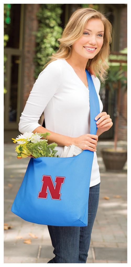 University of Nebraska Tote Bag Sling Style Teal
