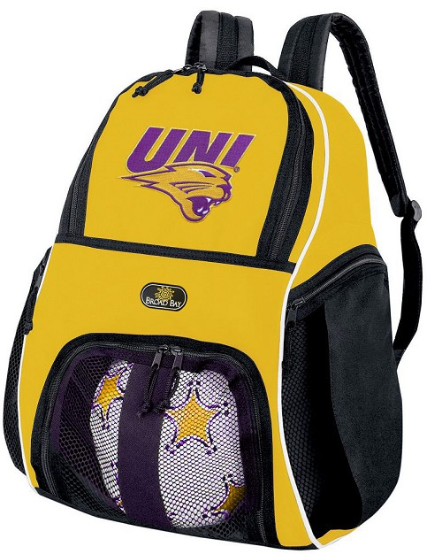 University of Northern Iowa Soccer Ball Backpack or UNI Panthers Volleyball For Girls or Boys Practice