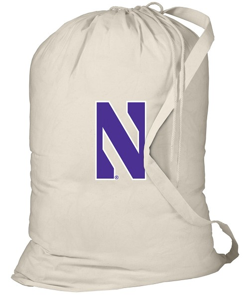Northwestern University Laundry Bag Natural