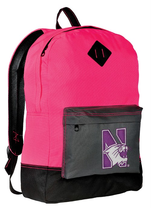 Northwestern University Neon PINK Backpack