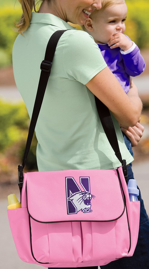 Northwestern University Diaper Bag Official NCAA College Logo Deluxe