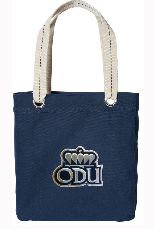 Old Dominion University ODU Rich NAVY Cotton Tote Bag