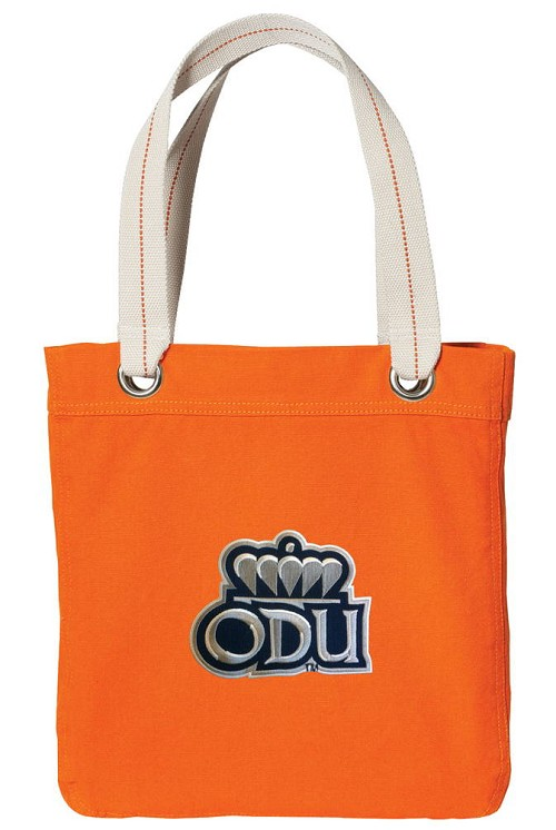 Old Dominion University ODU NEON Orange Cotton Tote Bag
