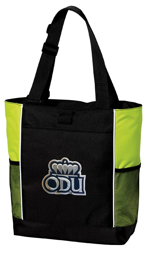 Old Dominion University ODU Neon Green Tote Bag