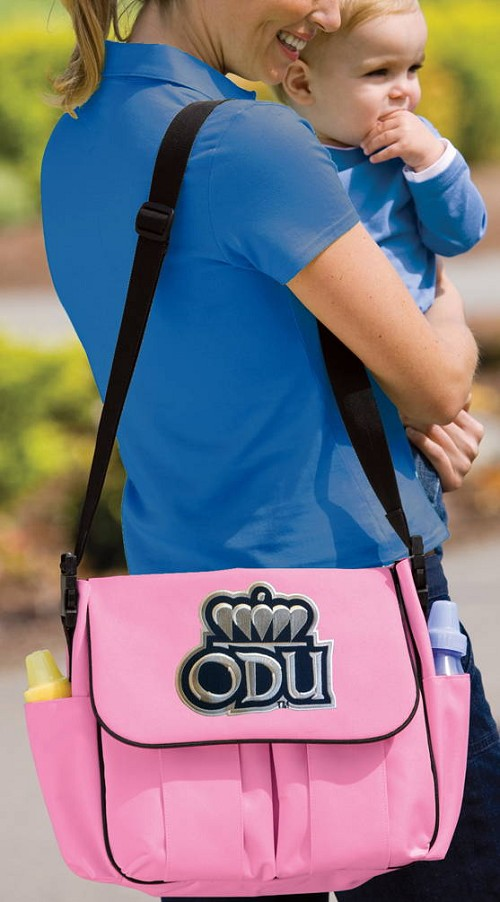 Old Dominion University ODU Diaper Bag Official NCAA College Logo Deluxe