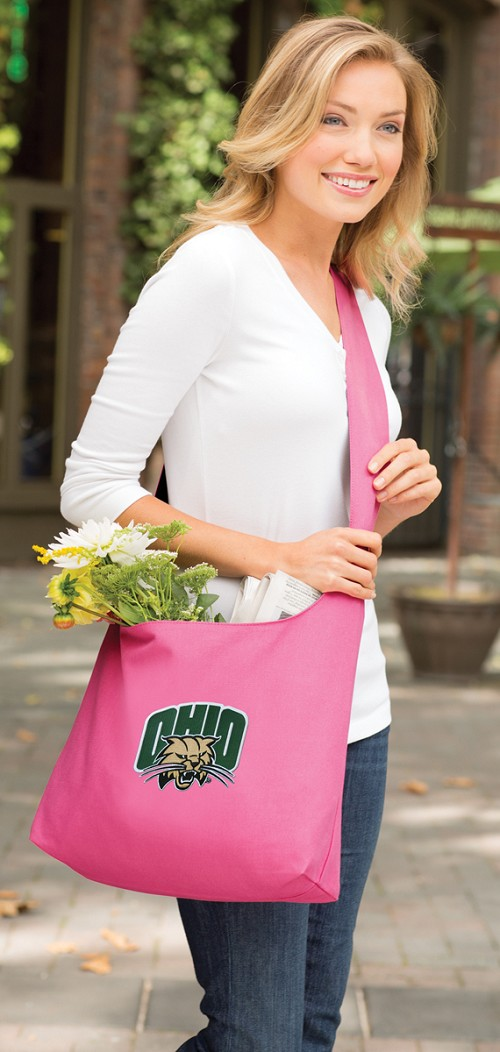 Ohio Bobcats Tote Bag Sling Style Pink