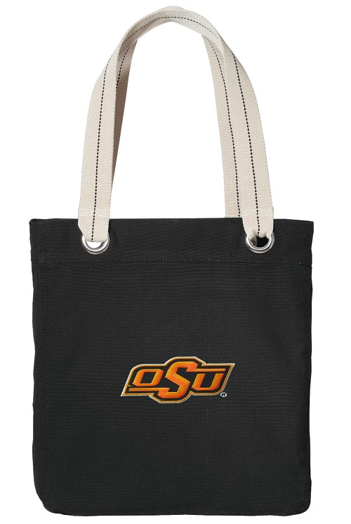 Oklahoma State University Cowboys Black Cotton Tote Bag