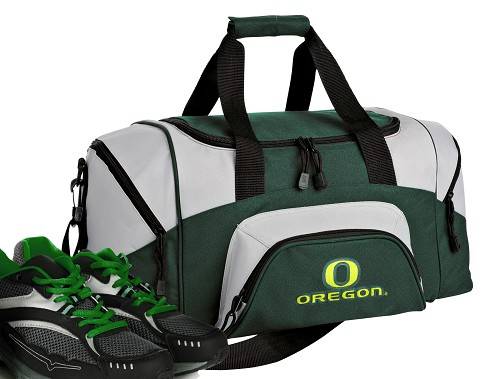 SMALL University of Oregon Gym Bag UO Duffle Green
