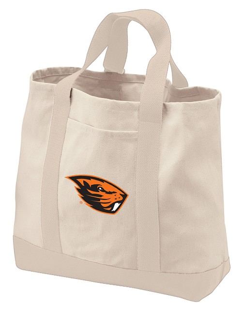 Oregon State University Tote Bags NATURAL CANVAS