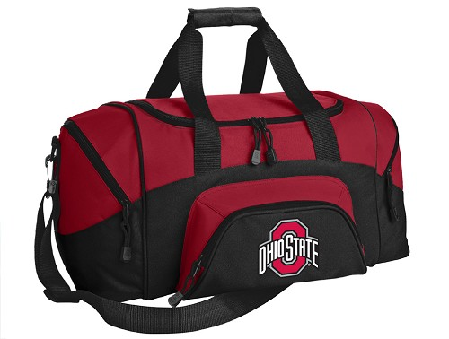 SMALL Ohio State University Gym Bag OSU Buckeyes Duffle Red