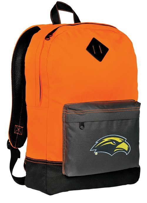 Southern Miss Logo Neon Orange Backpack