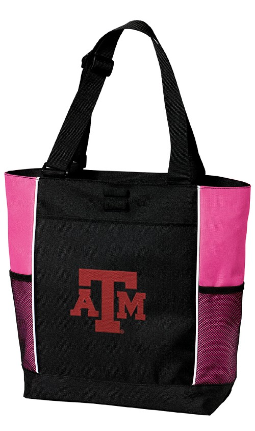 Texas A&M Aggies Neon Pink Tote Bag
