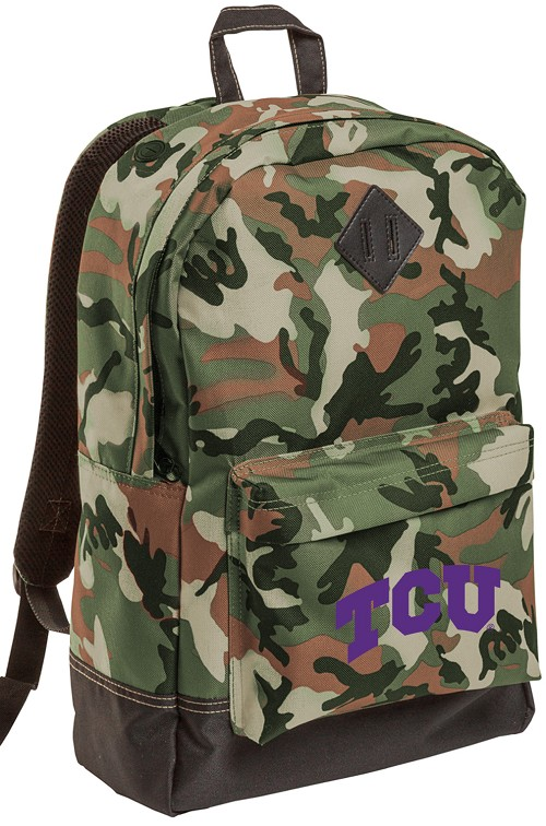 TCU Texas Christian University Camo Backpack