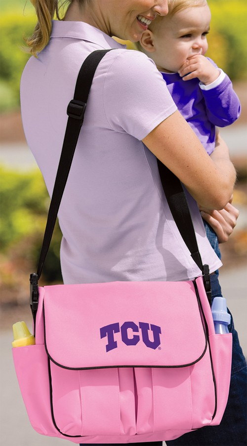 TCU Texas Christian University Diaper Bag Official NCAA College Logo Deluxe
