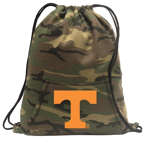 Tennessee Vols Drawstring Backpack Green Camo