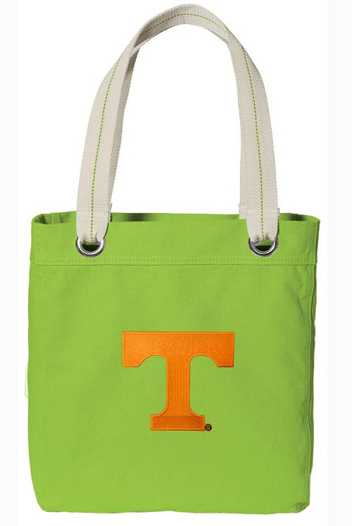 University of Tennessee NEON Green Cotton Tote Bag