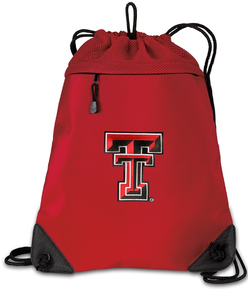 Texas Tech University Drawstring Bag Backpack Red