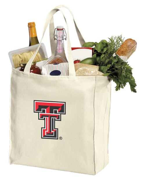 Texas Tech Canvas Shopping Bag
