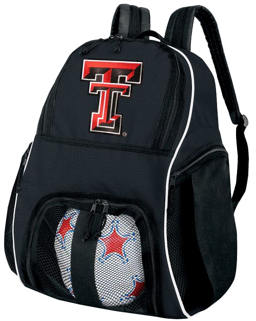Texas Tech Soccer Backpack or Texas Tech Red Raiders Volleyball Bag For Boys or Girls