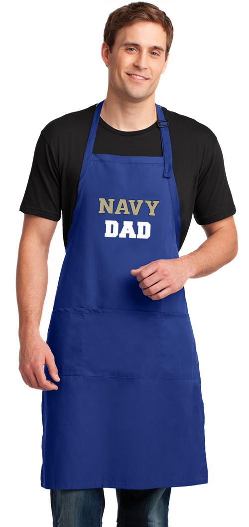 LARGE Naval Academy Dad Apron USNA Father Gift