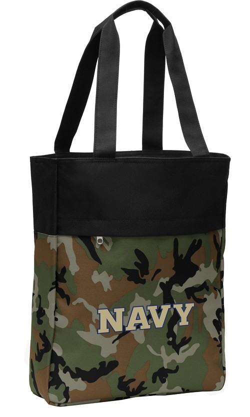 USNA Navy Tote Bag Everyday Carryall Camo