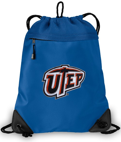UTEP Miners Drawstring Bag Backpack Blue